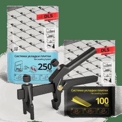 СВП комплект 250 основ - 100 клиньев - 1 зажим
