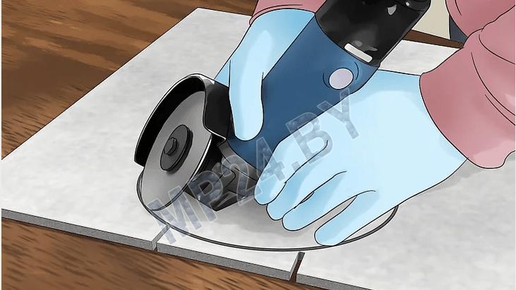4 способа как отрезать плитки вокруг туалета