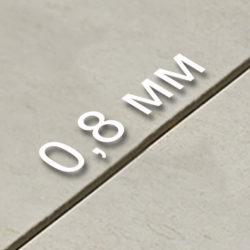 Толщина шва - 0,8 мм.