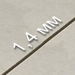 Толщина шва – 1,4 мм.