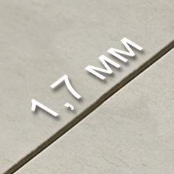Толщина шва - 1,7 мм.
