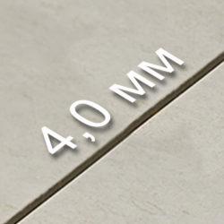 Толщина шва - 4,0 мм.